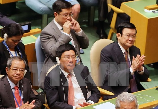 张晋创主席在联合国发展峰会框架内的密集活动 hinh anh 2