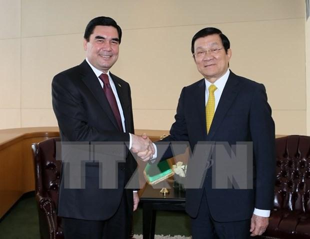 张晋主席密集会见出席联合国发展峰会的各国领导人 hinh anh 1