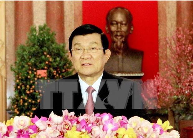 越南国家主席张晋创向少年儿童致以中秋节贺信 hinh anh 1