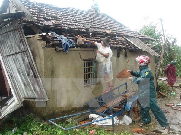 林同省遭暴雨龙卷风袭击60间民房不同程度受损 hinh anh 1