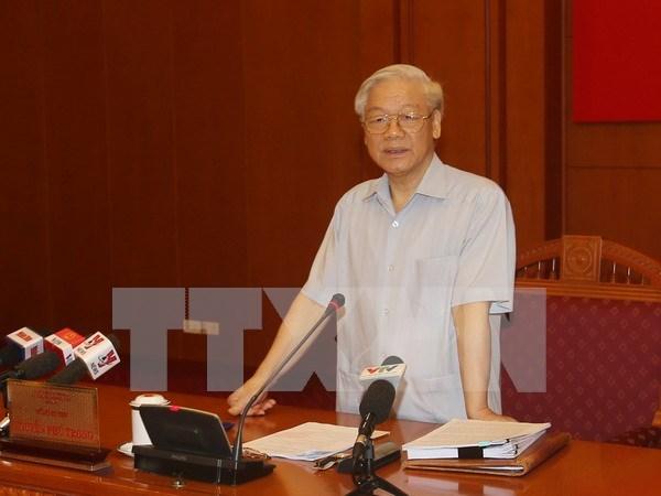 越共中央总书记阮富仲:反腐败工作取得了实质性进展 hinh anh 1