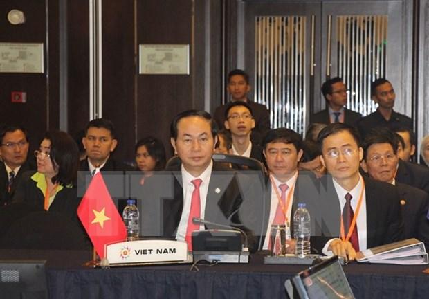 越南公安部长陈大光出席第十届东盟打击跨国犯罪部长级会议 hinh anh 1