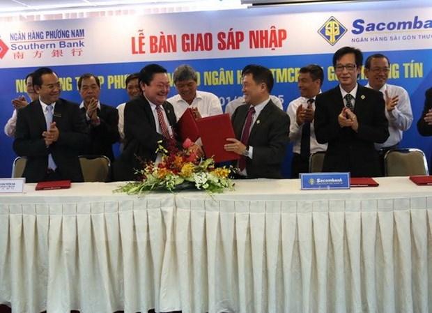 越南南方银行与西贡商业信用银行正式合并 hinh anh 1