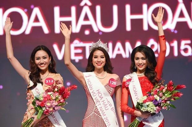 海防佳丽范氏香夺得2015年越南环球小姐选美大赛冠军 hinh anh 1