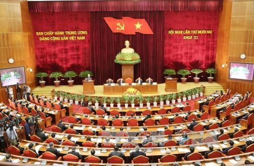 越共第十一届中央委员会第十二次全体会议在河内开幕 hinh anh 1