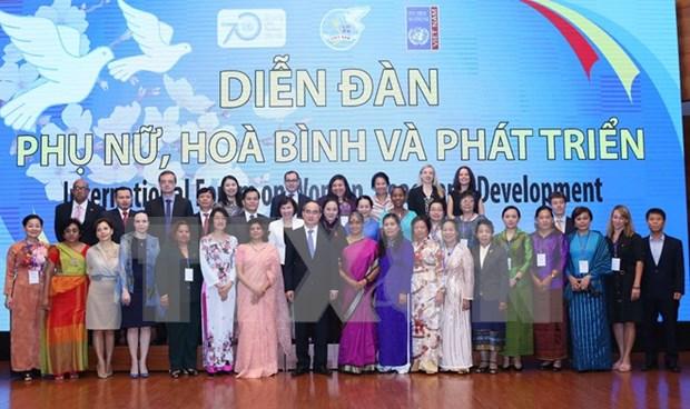 """""""妇女和平与发展""""国际论坛在越南河内开幕 hinh anh 1"""