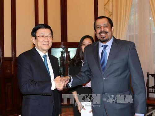 越南国家主席张晋创接见科威特驻越大使 hinh anh 1