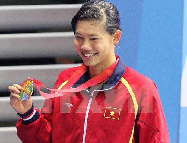 越南游泳名将阮氏映圆在第六届世界军人运动会获铜牌 hinh anh 1
