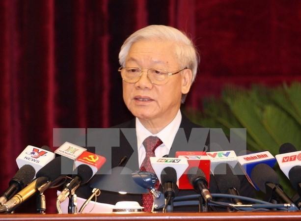 越共十一届中央委员会第十二次会议落下帷幕 hinh anh 1