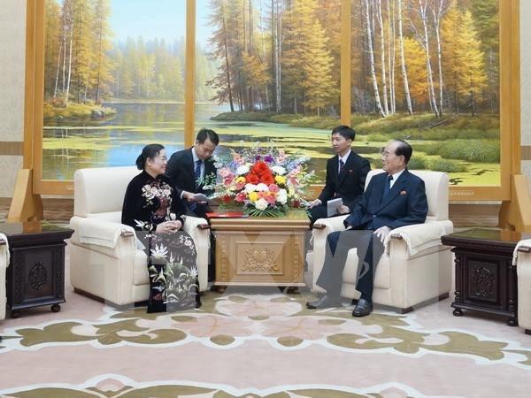 越南共产党代表团对朝鲜进行访问 hinh anh 1