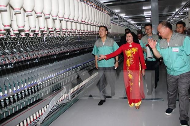 西宁省年产量15800吨纱线的棉纱厂竣工 hinh anh 1