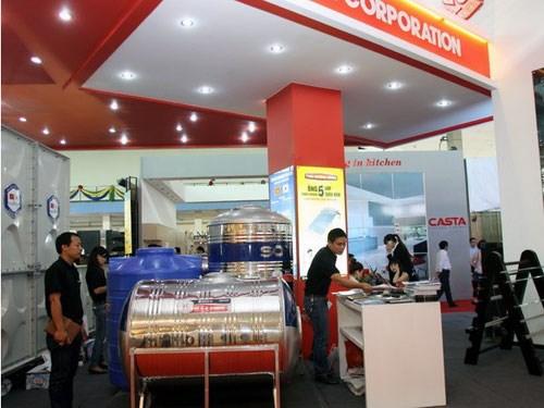 2015年越南国际建筑、建材及家居产品展落幕签约合同2400多份 hinh anh 1