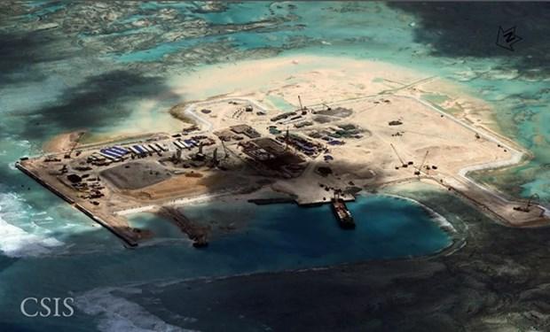 越南外交部发言人:中国在归属越南的长沙群岛上修建灯塔严重侵犯越南主权 hinh anh 1