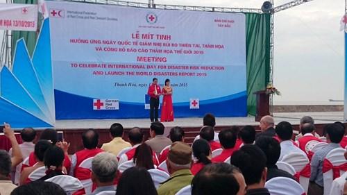 越南举行集会响应国际减灾日 hinh anh 1