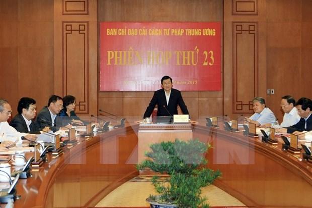 张晋创主席:坚持司法透明促进司法公正廉洁 hinh anh 1