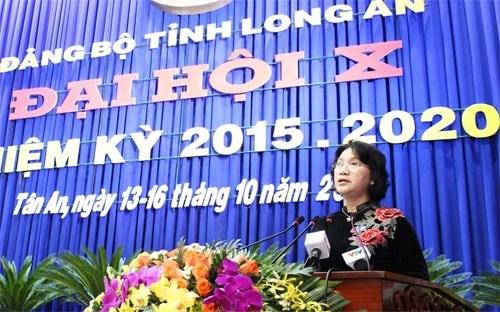 越共隆安省第十次代表大会隆重开幕 hinh anh 1