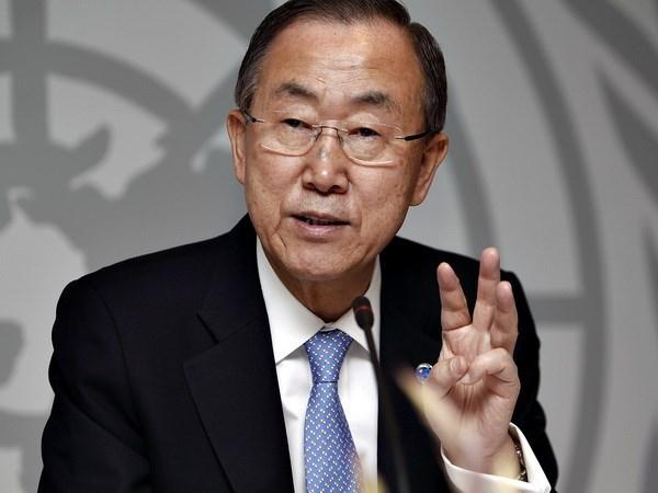 联合国秘书长潘基文欢迎缅甸各方签署全国停火协议 hinh anh 1