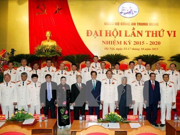越共中央公安第六次代表大会在河内隆重召开 hinh anh 1