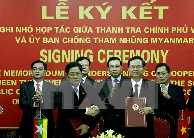 越南政府监察总署与缅甸反腐行动委员会加强合作 hinh anh 1