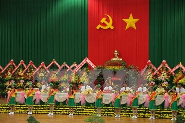 越共茶荣省第十次代表大会开幕 hinh anh 1
