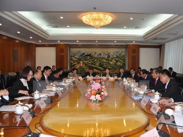 越中陆地基础设施合作工作组第一次部长级会议在北京召开 hinh anh 1