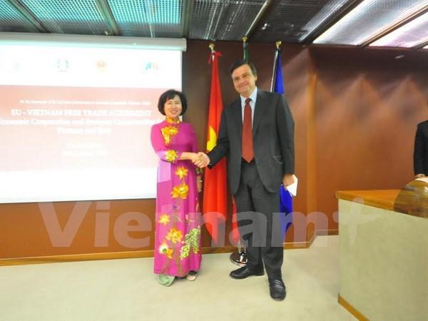 越南与意大利进一步促进经济合作关系 hinh anh 1