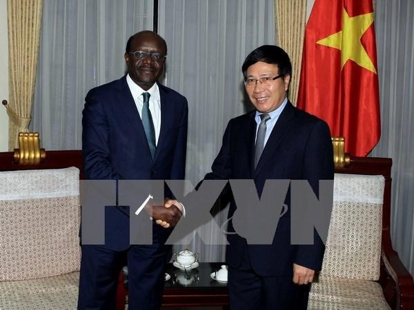越南政府副总理兼外长范平明会见UNCTAD秘书长穆希萨•基图伊 hinh anh 1