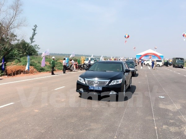 越南甲一号国道广治省路段扩建项目正式竣工通车 hinh anh 1