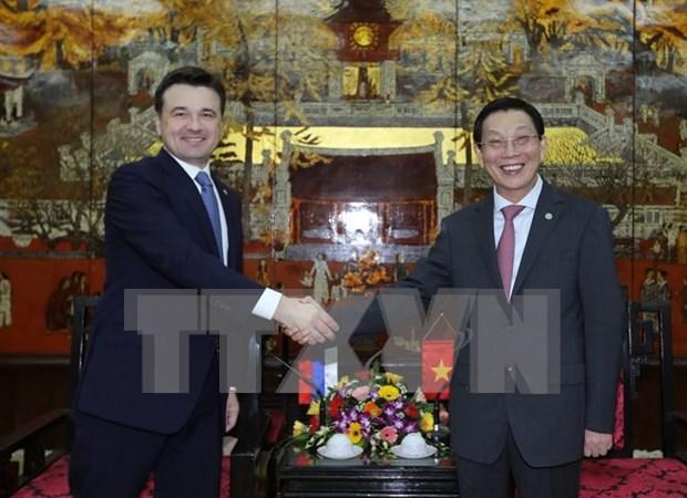 进一步加强越南河内市与俄罗斯莫斯科州多领域的合作 hinh anh 1