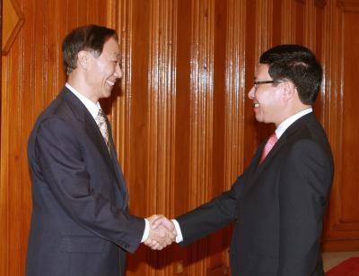 阮富仲总书记会见中国全国政协副主席、中联部部长王家瑞 hinh anh 2