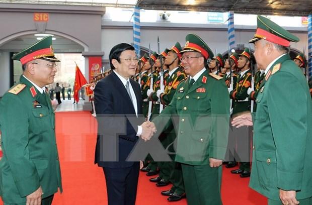 张晋创主席出席越南国防情报总局成立70周年纪念典礼 hinh anh 1