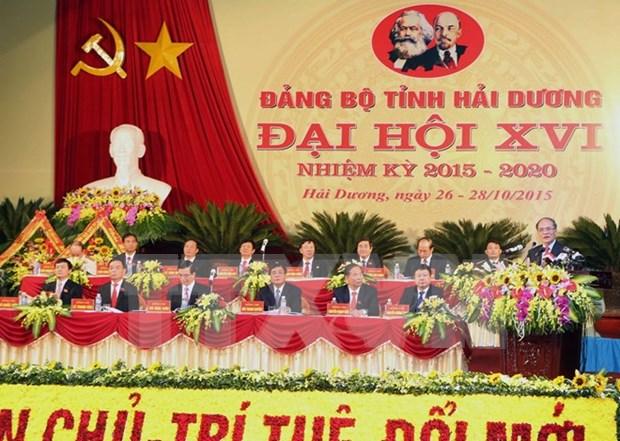 越南国会主席阮生雄出席越共海阳省第十六届代表大会 hinh anh 1