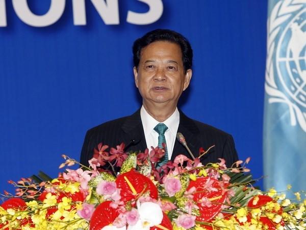 阮晋勇总理:越南愿积极参加联合国各项活动 hinh anh 1