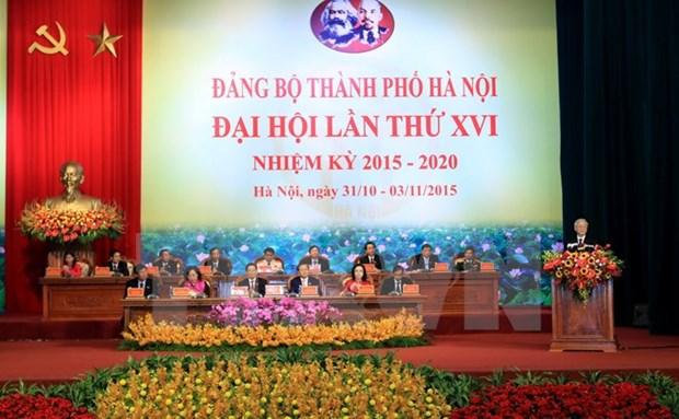 越共河内市第十六次代表大会在河内隆重开幕 hinh anh 1