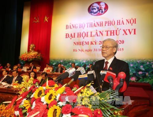 越共河内市第十六次代表大会在河内隆重开幕 hinh anh 5