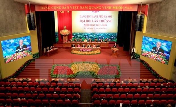 越共河内市第十六次代表大会在河内隆重开幕 hinh anh 4