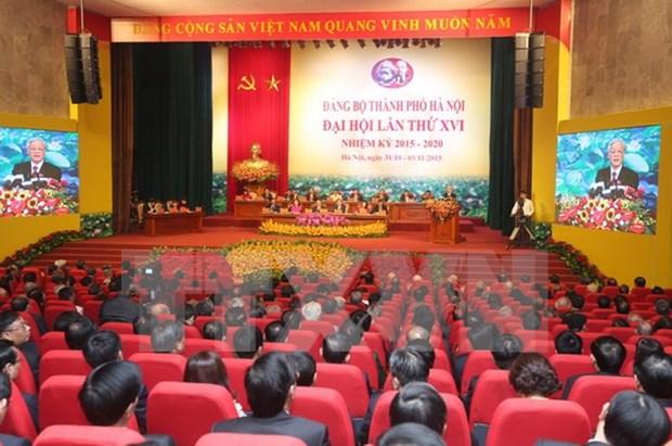 越共河内市第十六次代表大会选举产生新一届委员会 hinh anh 1