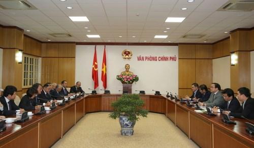黄忠海副总理会见日本经济团体联合会代表团 hinh anh 1