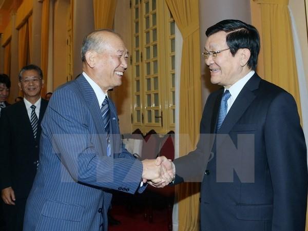 国家主席张晋创会见日本民间外交推进协会副会长 hinh anh 1