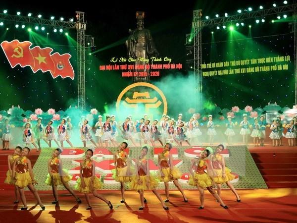 河内市庆祝越共河内市第十六次代表大会胜利召开 hinh anh 1