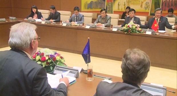 越南国会对外委员会主任与欧洲议会欧洲——东南亚和东盟友好议员小组代表团举行会谈 hinh anh 1