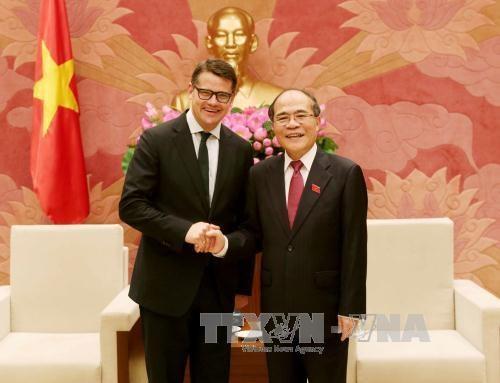 越南国会主席阮生雄会见德国黑森州科学艺术部长波利斯·莱恩 hinh anh 1