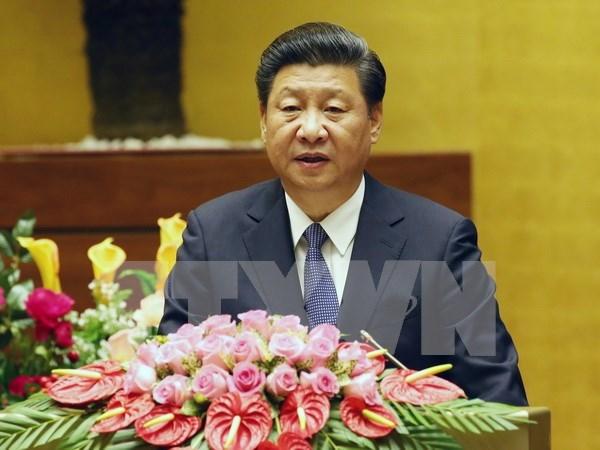 中共中央总书记、国家主席习近平在越南第十三届国会第十次会议上发表讲话 hinh anh 1