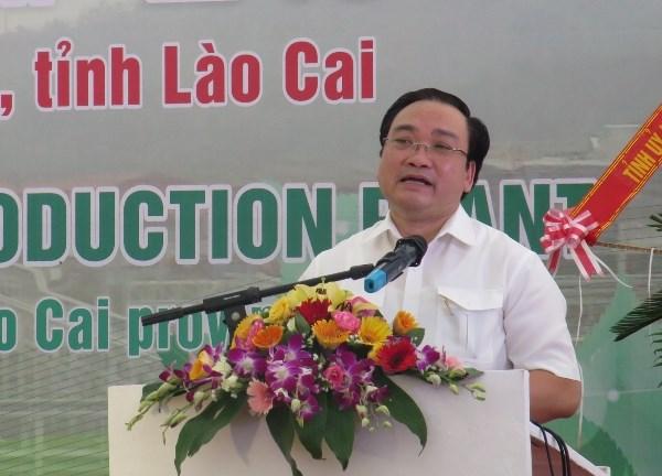 越南西北地区最大化肥厂在老街省落成 hinh anh 1