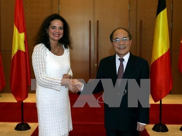比利时参议院议长克里斯蒂娜•德弗莱涅圆满结束对越南的政治访问 hinh anh 1