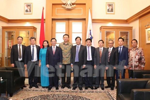 越印尼两国首都加强合作 实现共同繁荣发展 hinh anh 1
