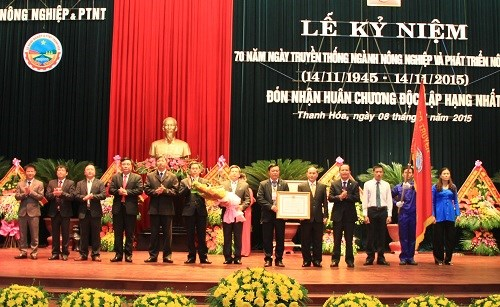 清化省农业与农村发展厅荣获一级独立勋章 hinh anh 1