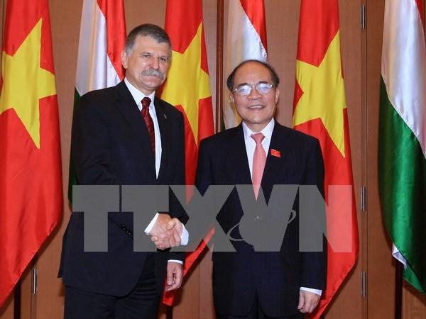 越南国会主席阮生雄与匈牙利国会主席克韦尔举行会谈 hinh anh 1