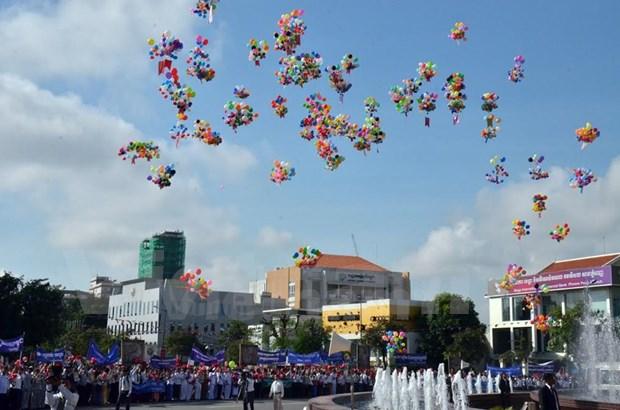 柬埔寨庆祝独立62周年 hinh anh 1