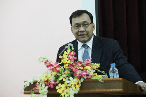 柬埔寨王国国庆62周年纪念典礼在河内市举行 hinh anh 1